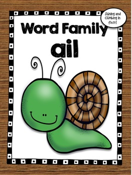 All About the Word Family -ail - No Prep!  Word Work!