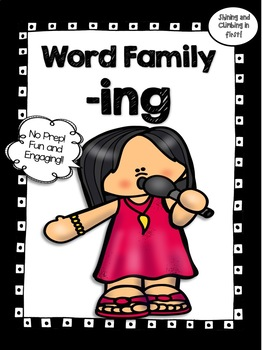 All About the Word Family -ing - No Prep! Real Photos!
