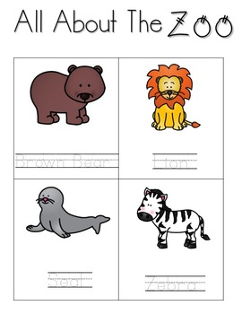 All About the Zoo Activity Packet