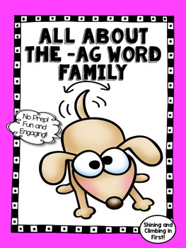 All About the -ag Word Family - No Prep! Real Photos!
