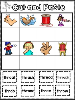 All About the -thr Trigraph - Word Work! No Prep!