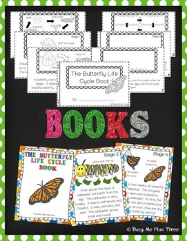 Butterfly Life Cycle Activities, Worksheets, Books, and Posters