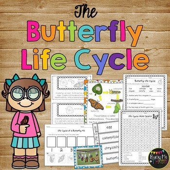 All About The Butterfly Life Cycle, Worksheets, Center Act