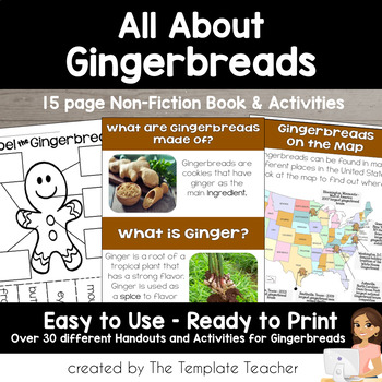 The Gingerbread Man and House A Non-Fiction Book and Unit for Primary Grades