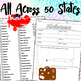 All Across The 50 States Worksheets & Flash Cards