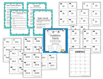 All Addition fact families Cooperative Learning: Peer-Check-Review Bundle