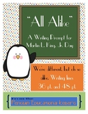 All Alike - Writing Prompt for Martin L. King, Jr. Day