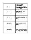 All Amendments Flashcards or Matching Game