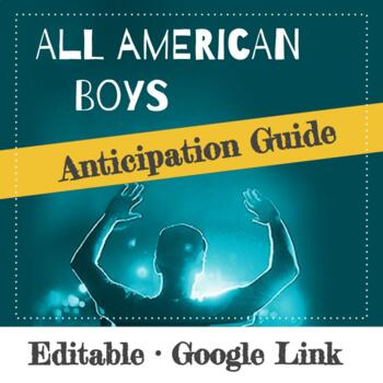 All American Boys Anticipation Guide