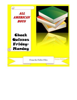 All American Boys Check Quizzes by The Fuller Files | TpT