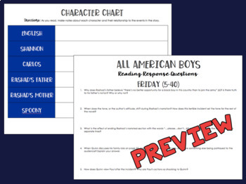 All American Boys Novel Unit