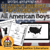 All American Boys Reading Journal and Workbook (Distance L