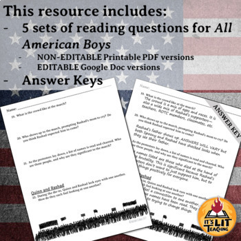 All American Boys Reading Questions