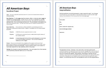 All American Boys Soundtrack Project