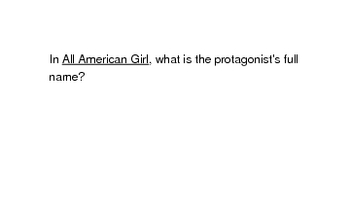 All American Girl by Meg Cabot (flash cards)