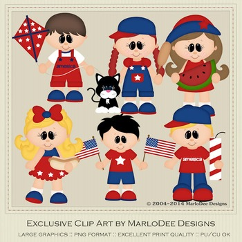All American Kids Clip Art Graphics