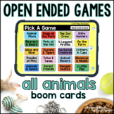 All Animals Open Ended Games for ANY skill   Boom Cards™