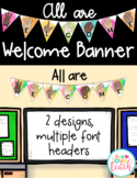All Are Welcome Banner - Watercolor/Shiplap