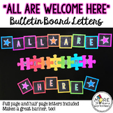 All Are Welcome Here Bulletin Board Letters Set