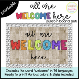 All Are Welcome Here: Bulletin Board Set {Includes 76 languages}