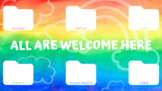 All Are Welcome Here Computer Organizer Desktop Wallpaper and Screensaver
