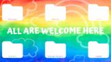 All Are Welcome Here Computer Organizer Desktop Wallpaper