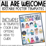 All Are Welcome Here Poster Templates