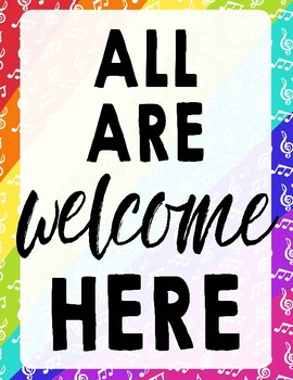 All Are Welcome Here Todos Son Bienvenidos Aquí