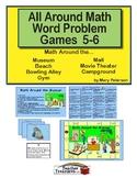 All Around Math Word Problem Games 5-6