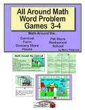 All Around Math Word Problem Games 3-4