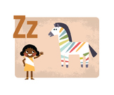 All Around The World Learn Your ALPHABET Prints (with Colo