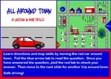 All Around Town Map Skills Lesson SMARTBOARD