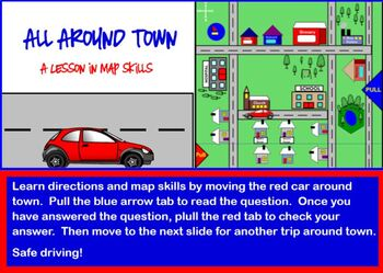 All Around Town Map Skills Lesson
