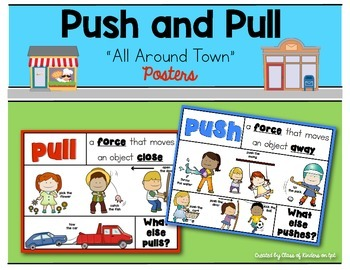 All Around Town {Push and Pull Posters} for Kindergarten &