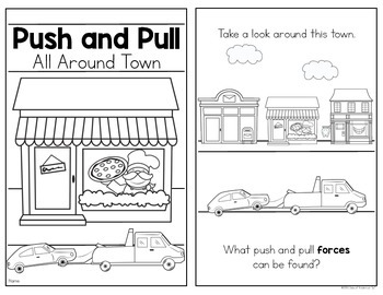 All Around Town {Push and Pull Reader} for Kindergarten & First Grade