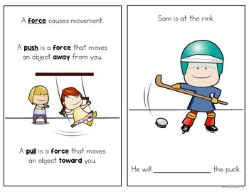 Force and Motion: Push & Pull Science Reader Force & Motion Kindergarten & First
