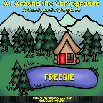 All Around the Campground Game Board Set FREEBIE