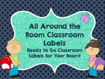 All Around the Room Classroom Labels- Cool Colors