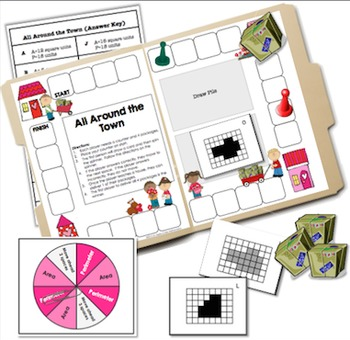 All Around the Town: A File Folder Game on Area and Perimeter