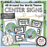 All Around the World Theme - Center Signs