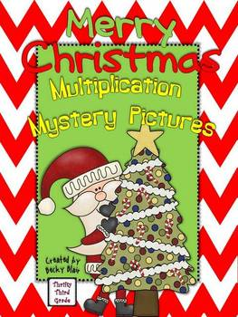 All Around the World Christmas Multiplication Mystery Pictures