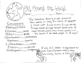 All Around the World Conversions Math Doodle