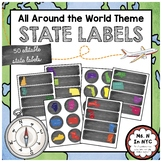All Around the World Theme - State Labels