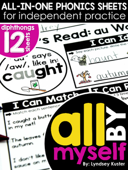 All By Myself - Diphthong Independent Phonics Sheets