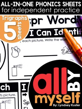 All By Myself - Trigraphs - Independent Phonics Sheets