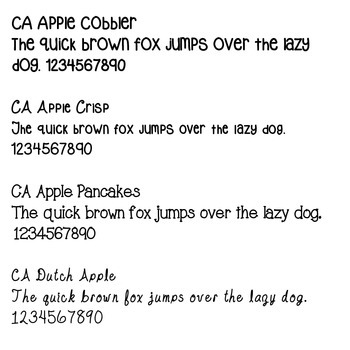 All CA Fonts - personal & commercial use fonts!