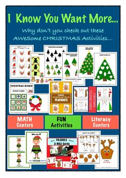 All Christmas Printables -for PreK, Kindergarten, First & Second Graders