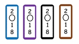 All Colors Bookmark 2018