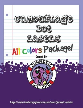 All Colors! Camouflage Dot Labels