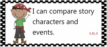 All Common Core Standards posters for kindergarten - Pirates!